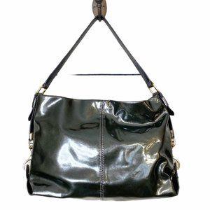 Antonio Melani Leather GunMetal Shoulder HOBO Bag